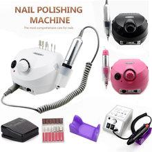 Máquina pulidora de uñas profesional, 35000RPM, equipo para manicura y pedicura, Lima eléctrica con cortador, herramienta para uñas