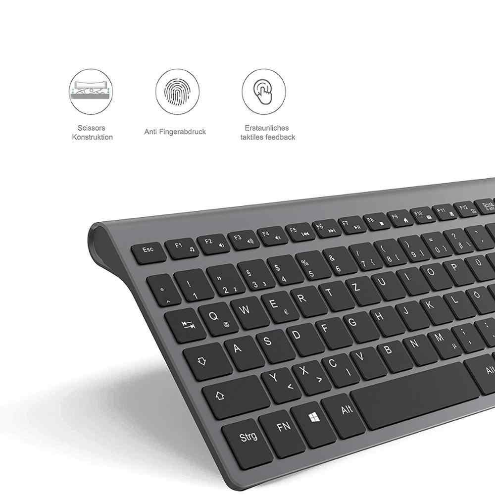 Us/Frankrijk/Duitsland/Italië/Spanje/Rusland Draadloze Keyboardcompact Ergonomisch Toetsenbord 2.4G Draadloze Toetsenbord En muis