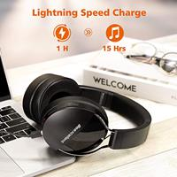 Wireless Bluetooth Headphones Headset Active Noise Cancelling Over Ear Wired HiFi Monitors Headset Foldable Gaming Earphones
