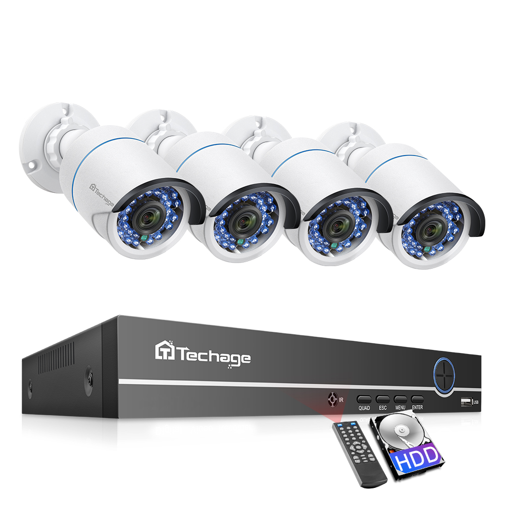 Techage 8CH 1080P <font><b>POE</b></font> NVR <font><b>Camera</b></font> Kit 2.0MP Security <font><b>Camera</b></font> System IR <font><b>Outdoor</b></font> Audio Record <font><b>IP</b></font> <font><b>Camera</b></font> CCTV Video Surveillance <font><b>Set</b></font> image