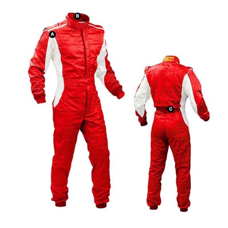 Personnalité couleur vive voiture tissu vélo coureurs vestes voiture kart course costume et blanc lumière tache dérive course
