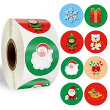 Christmas Sticker 500 Pcs Cute Santa Claus Deer Decorative Adhesive Reward School Supplies Stationery