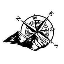 Hot Sell Dawasaru Jungle Adventure Compass Car Sticker Personalized Decal Suitcase Truck Motorcycle Auto KK,16cm*12cm