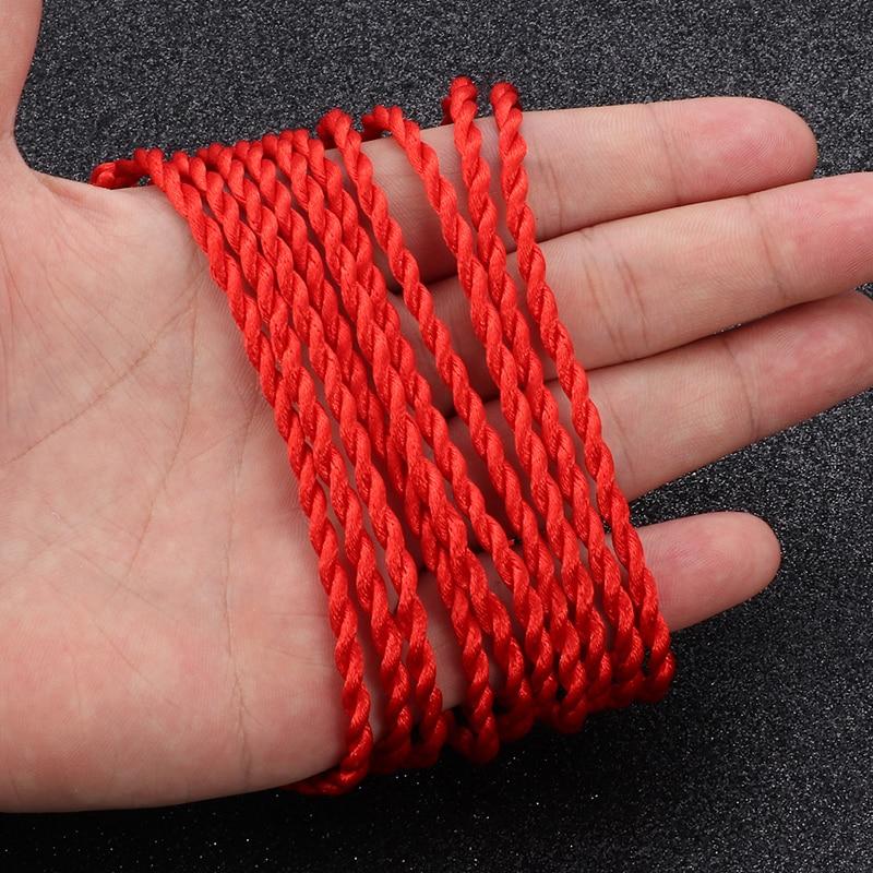 10 pcs red rope braided bracelet ladies Lucky Handmade rope jewelry lovers gift Woven Bracelet Black rope bracelet Wristband(China)