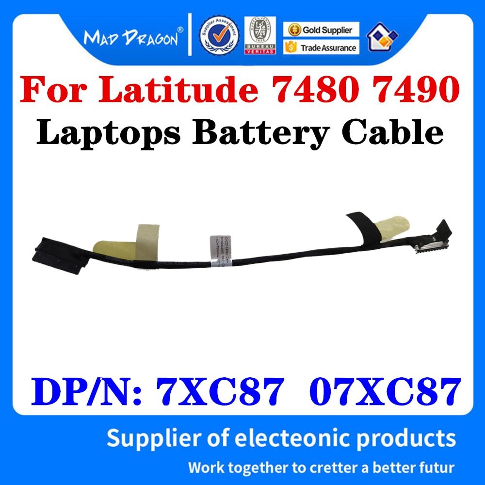 Новый оригинальный Провод Аккумулятора, кабель для ноутбуков Dell Latitude 7480 7490 E7480 E7490, зарядный кабель CAZ20 DC02002NI00 7XC87 07XC87