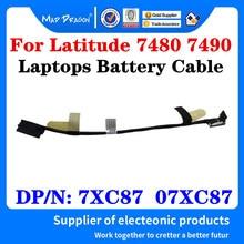 Novo cabo de fio da bateria original para dell latitude 7480 7490 e7480 e7490 laptops bateria cabo caz20 dc02002ni00 7xc87 07xc87