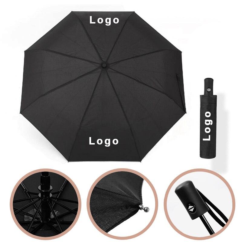 Homem totalmente automático guarda-chuva preto negócios à prova dmaserati água guarda-chuva para maserati quattroporte ghibli levante 3 dobrável acessório do carro