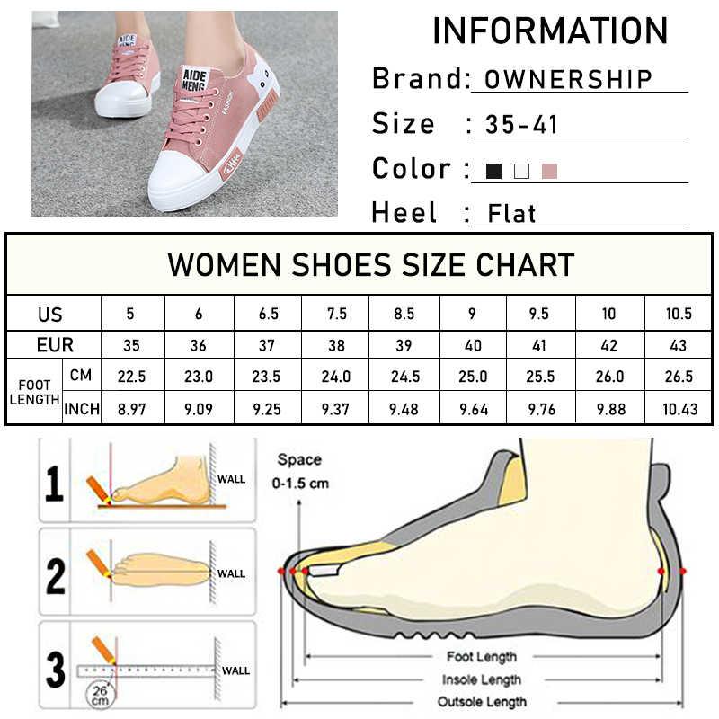 2020 kadın vulkanize kadınlar Flats tuval kadın karikatür kedi kadın platformu ayakkabı bayanlar spor salonu ayakkabısı yuvarlak ayak artı boyutu 41
