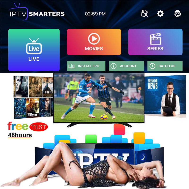 World Best Stable IPTV adult m3u subscription 1 Year for portugal Spain Dazn France USA dutch Iptv adult Android tv box 12 Mon image