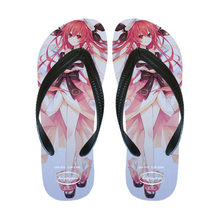 Anime comics DATE A LIVE Efreet cosplay Beach shoes flip-flops Tsunako shoes woman Princess kawaii shoes Unisex Home slippers(China)
