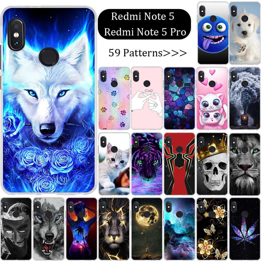Pour Xiaomi Redmi Note 5 housse en Silicone Fundas pour Xiaomi Redmi Note 5 Pro Coque souple en TPU pour Xiaomi Redmi Note5 Pro