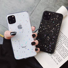 Silicone For iphone 7 plus iphone7 Case Star Pattern Transparent for iphone6s 6 Clear Crystal Soft TPU Ultra Thin