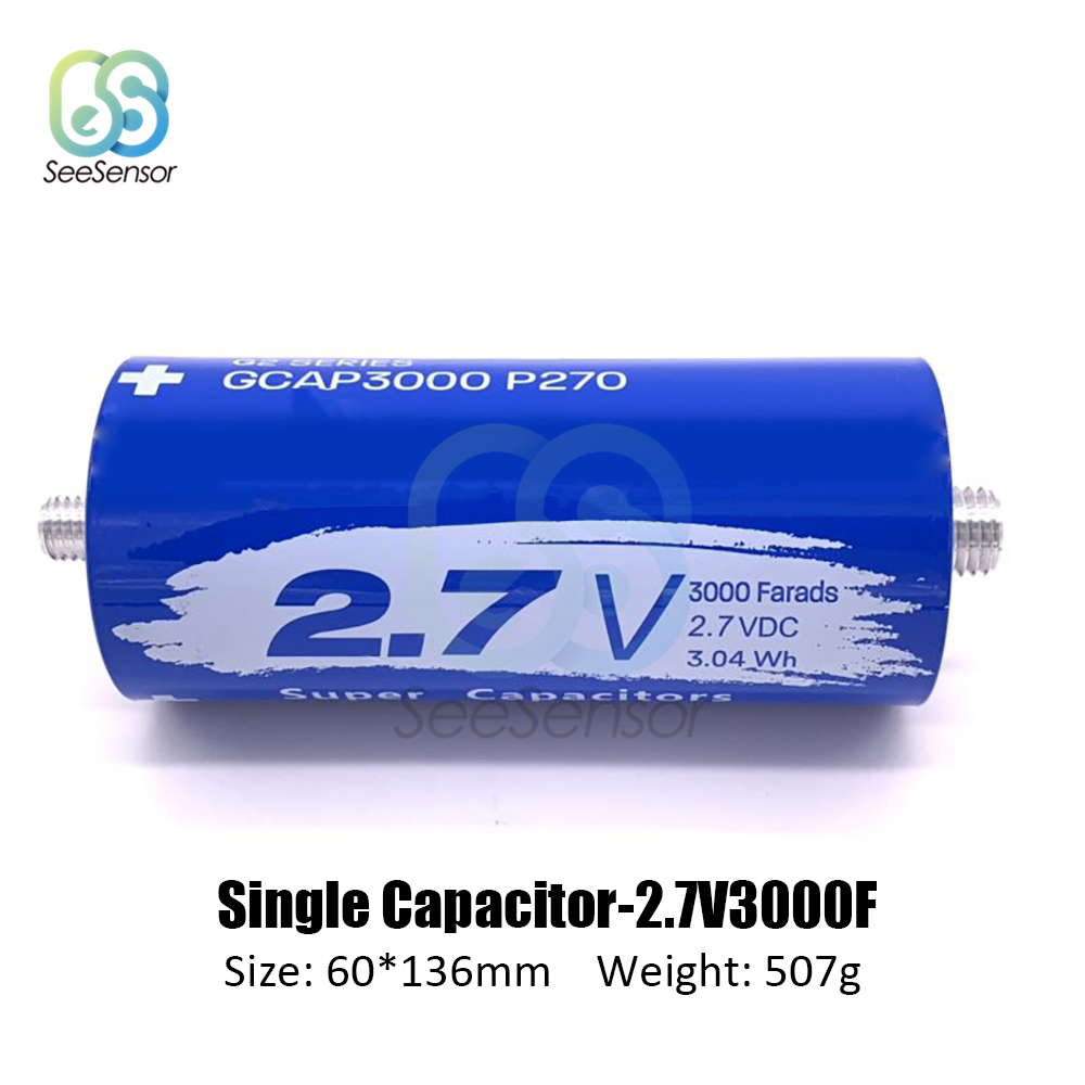 2.7V 3000F Super Farad Capacitor 60*136mm Low ESR High Frequency Ultracapacitor For Car Auto Power Supply