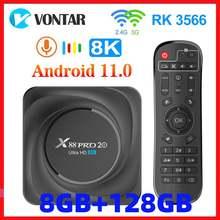 Vontar x88 pro 20 caixa de tv android 11 8gb ram 128gb rom rockchip rk3566 8k android 11.0 media player google youtube 1000m 4gb32gb