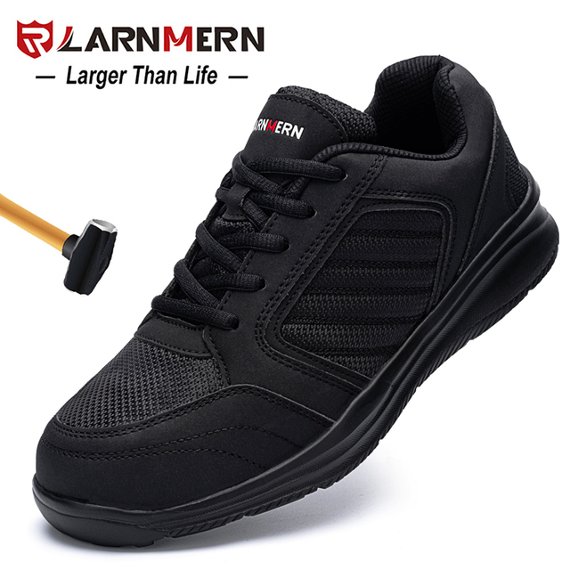 LARNMERM Safety Shoes Work Shoes Steel
