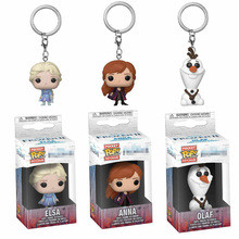 Funko pop Frozen 2 anime Elsa Anna Olaf Pocket Keychain Vinyl Action Figure Toys For Children Christmas Gift 2017 funko pop batman action figure toys plastic vinyl figures desk toys birthday christmas gift for kids children