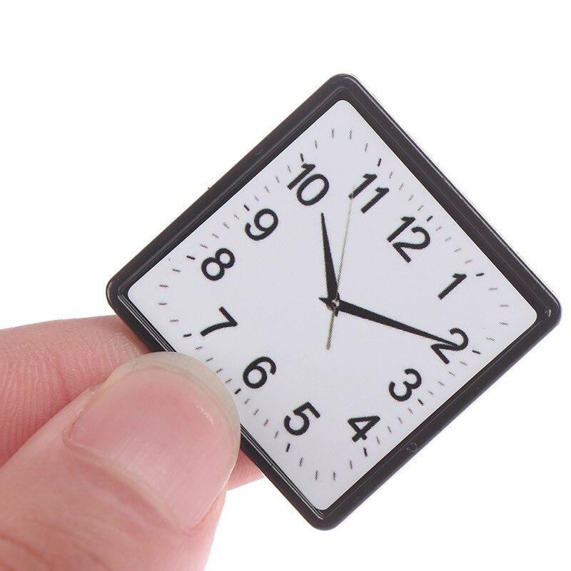 1:12 миниатюрные настенные часы для кукольного домика из смолы, миниатюрные кукольные домики, аксессуары для домашнего декора, игрушка, игруш...