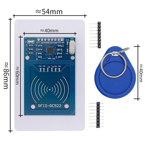 50 Pcs MFRC 522 RC522 Rfid Rf Ic kaart Sensormodule Om Sturen Fudan Kaart, Sleutelhanger