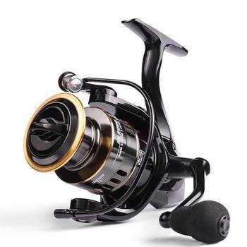 Fishing Reel HE7000 Max Drag 10kg High Speed Metal Spool CNC Handle Spinning Reel Saltwater Reel Carp Fishing Reel 2020 NEW