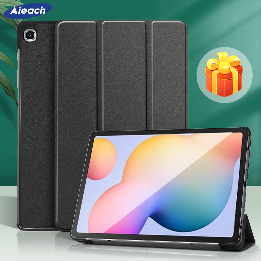 Leather Trifold Stand Case For Samsung Galaxy Tab A 10.1 2019 8.0 S5e Smart Sleep Wake Cover For Galaxy Tab S7 Plus S6 Lite Case-0