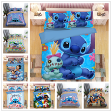 3D Disney Home Lilo and Stitch Bedding Set Quilt Cover Twin Bedroom Decor for Kids Boy Girl Queen King Size
