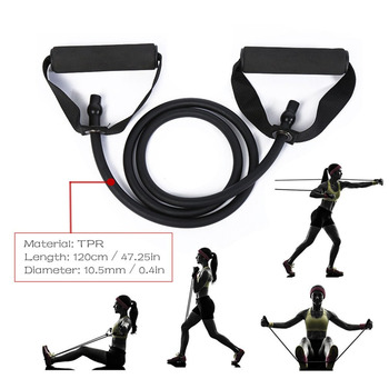 5 Levels Resistance Bands with Handles Yoga Pull Rope Elastic Fitness Exercise Tube Band for Home Workouts Strength Training 3