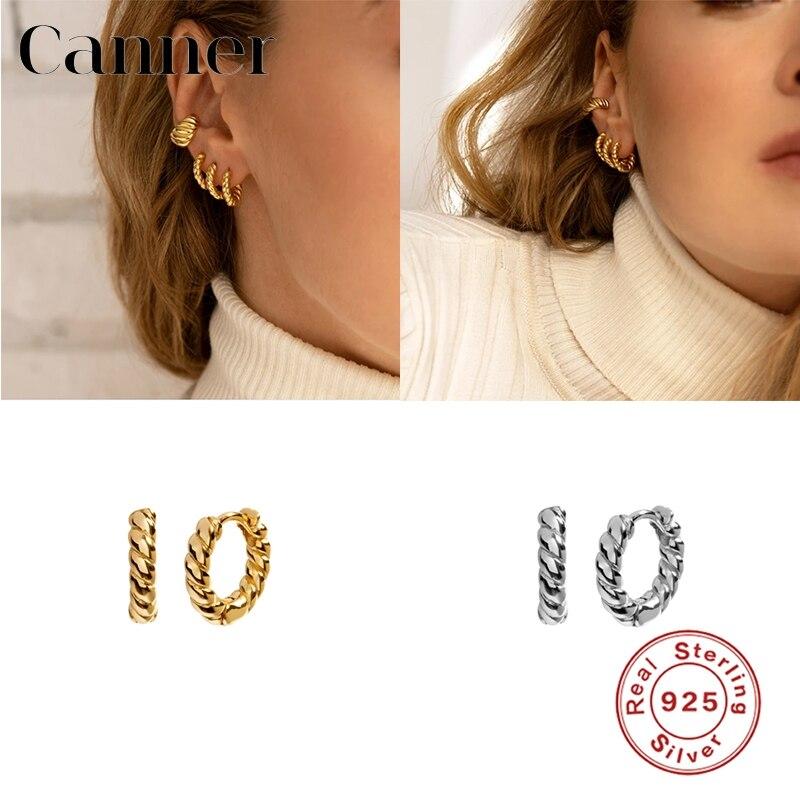 Eindoser 925 Sterling Silber Hoop Ohrringe Twist Vintage Koreanische Ohrring Für Frauen Mädchen Täglichen Persönlichkeit Zubehör pendientes W5