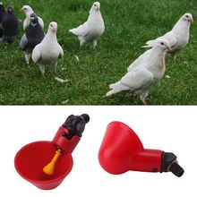 Poultry Automatic Water Drinking Cup Bird Hen Chicken Drinker Coop Feeder Bowl X4YE 50 sets chicken quail waterer poultry drinker cups 13 5mm pipe automatic bird coop feeder poultry chicken fowl drinker waterers