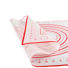 Silicone Pastry Measurement Not-Slip Rolling Dough Mats for Baking 40*60cm Black Red Colors