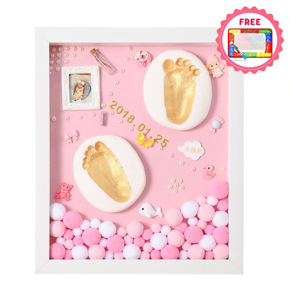 DIY Baby Hand Print Kit Baby Items For Newborns Baby Gift Kit Footprint Non-Toxic Clay Casting Kit Baby Keepsake Souvenirs