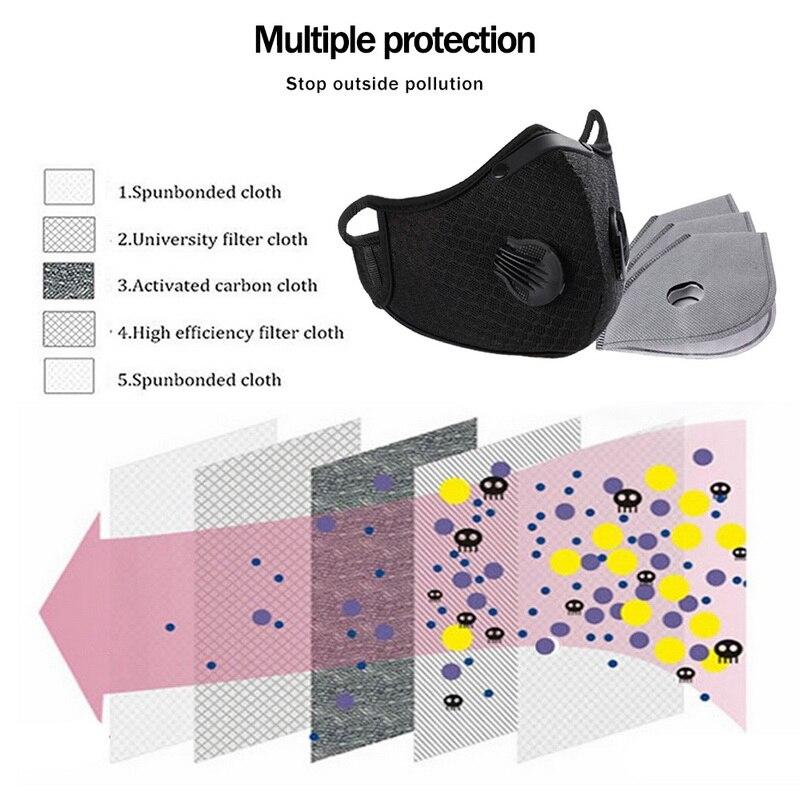 PM2.5 дышащая велосипедная маска с фильтром противозагрязняющая пыль ветрозащитная Защитная велосипедная MTB велосипедная маска для лица
