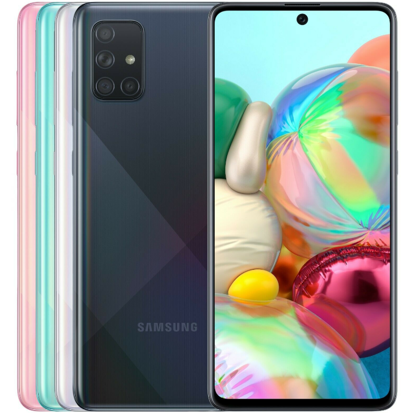"Global Version Samsung Galaxy A71 A715F/DS Mobile Phone 8GB RAM 128GB ROM Octa Core 6.7""1080x2400 4500mAh NFC Dual SIM Android10"