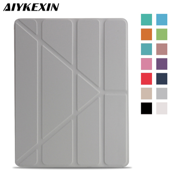 AIYKEXIN Case for iPad 2 3 4 Case PU Leather with PC Hard Back Smart Cover for iPad 4 3 2 Case Multi-fold Stand Auto Wake/Sleep for ipad pro 12 9 case aiyopeen 3 fold pu leather smart wake up sleep with matte transparent pc back cover magnetic flip stand