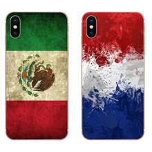 National Flag Norway Netherlands Maxica Italy For Apple iPhone 4 4S 5 5C 5S SE 6 6S 7 8 Plus X XS Max XR Soft TPU Quinn Phone(China)