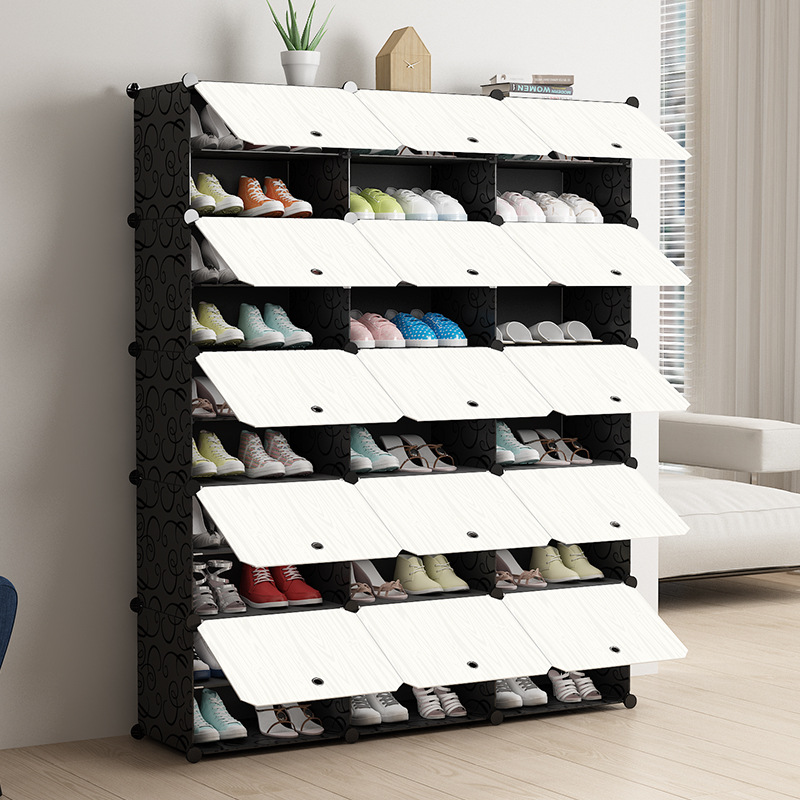 Fashoin Modular Shoe Cabinet Standing Dustproof Storage Closet Organizer Detachable Home Organizer Holder Shoe Rack With Door