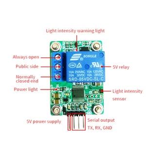 Image 4 - Фоточувствительный датчик MAX44009, фотоэлектрический релейный модуль, датчик интенсивности света, последовательный порт компьютера