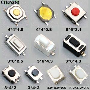 Cltgxdd Micro Switch 100PCS 10Type/lot Assorted Push Button Tact Switches Reset Mini Leaf Switch SMD DIP 2*4 3*6 4*4 6*6 diy kit(China)