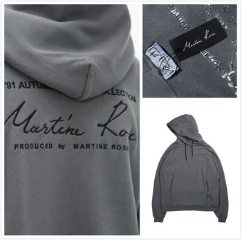 New Mens Hoodies Martine Rose Hoodie Women High Quality Letter Embroidery Casual Stranger Things Pullover