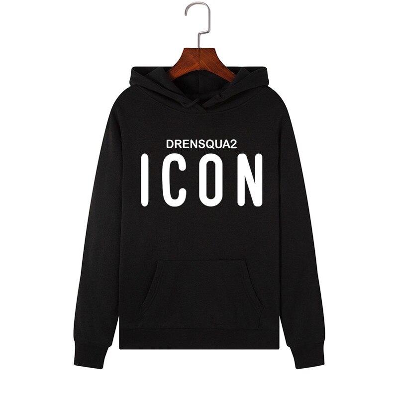 2019 Fashion ICON Print Hoodies Women Hoodie Pullover Long Sleeve Clothes Warm Hooded Sweatshirt Winter Coat Women Casual Tops
