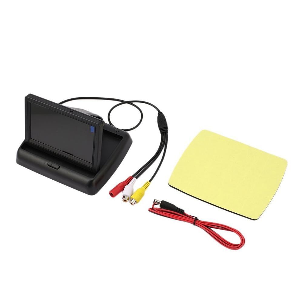 LED-Monitor Rückfahr Hilfe Kit mit Klapp Display + Rückansicht Schmetterling Kamera Wasserdicht Auto-Backup Parkplatz System