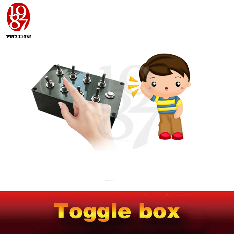 Image 4 - Room escape props toggle box real life chamber game all toggles in right directions to unlock escape takagism game jxkj1987-in Alarm System Kits from Security & Protection