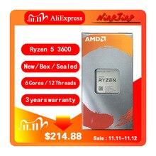 Amd Ryzen 5 3600 R5 3600 3.6 Ghz Zes Core Twaalf Draad Cpu Processor 7NM 65W L3 = 32M 100 000000031 Socket AM4 Nieuwe En Met Ventilator