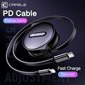 Cafele выдвижной PD кабель usb type C для Lightning Кабель для iPhone 11 Pro Xs Max X Xr 8plus Macbook Быстрая зарядка дата кабель