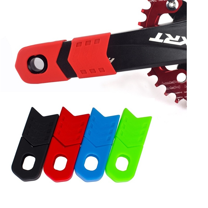 1 pair New Silicon Bicycle Crank Arm Boot//Protector Crankset Protective Cover AU