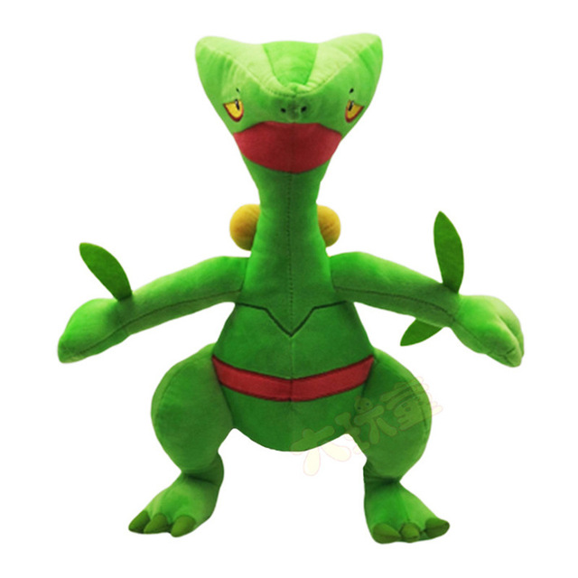 34CM Sceptile Mega XY Japanese Plush Green Anime Figure Toy Plush Stuffed Doll Collectible Toy Christmas Gift