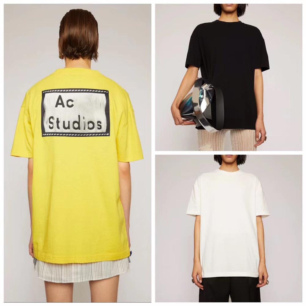 2020 AC Studios  Summer New Fashion Women T Shirts Cotton Chiara Ferragni Sequins Acne Style Men T-Shirts