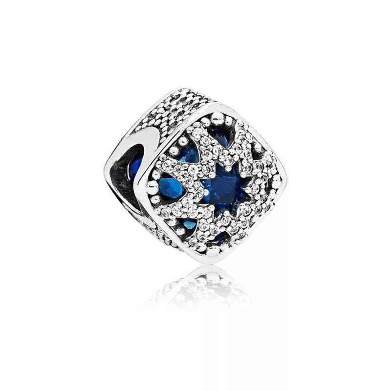 GChic רגעים חרוזים כחול שמיים נוצץ כוכב כחול מים קסמי Fit מקורי פנדורה צמיד נשים DIY תכשיטי Pulseras חרוזים