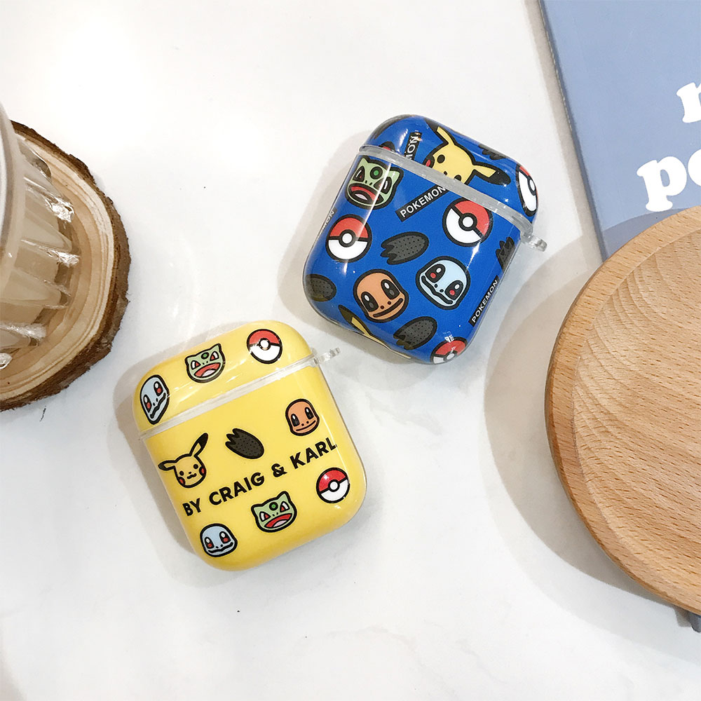 cute kawaii <font><b>PIKACHU</b></font> lovely pokemon choose you <font><b>case</b></font> for <font><b>Airpods</b></font> lovely cartoon image Apple Airpods2 bluetooth earphone <font><b>case</b></font> image