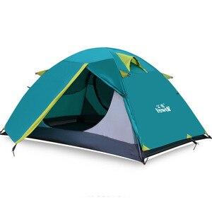 Image 2 - Hewolf 야외 초경량 캠핑 2 명 알루미늄 텐트 더블 레이어 방수 캠핑 텐트 Carpas De Camping
