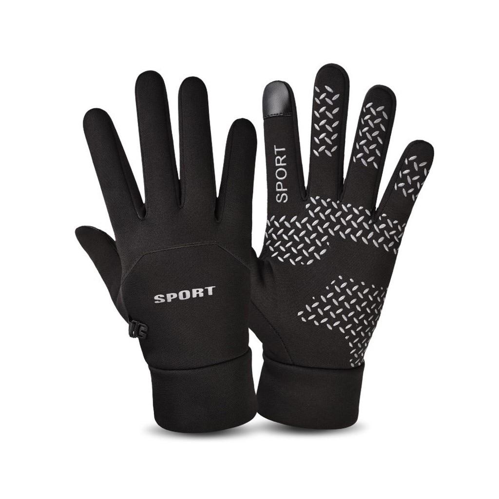 Persevering Man Winter Gloves Touch Screen Rain-proof Ski Lady Waterproof Warm Fashion Windproof Riding Sports Gloves Women Zipper #j2p